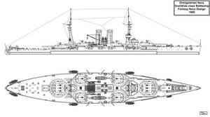 Drengslanian Hypothetical Battleship by Tzoli