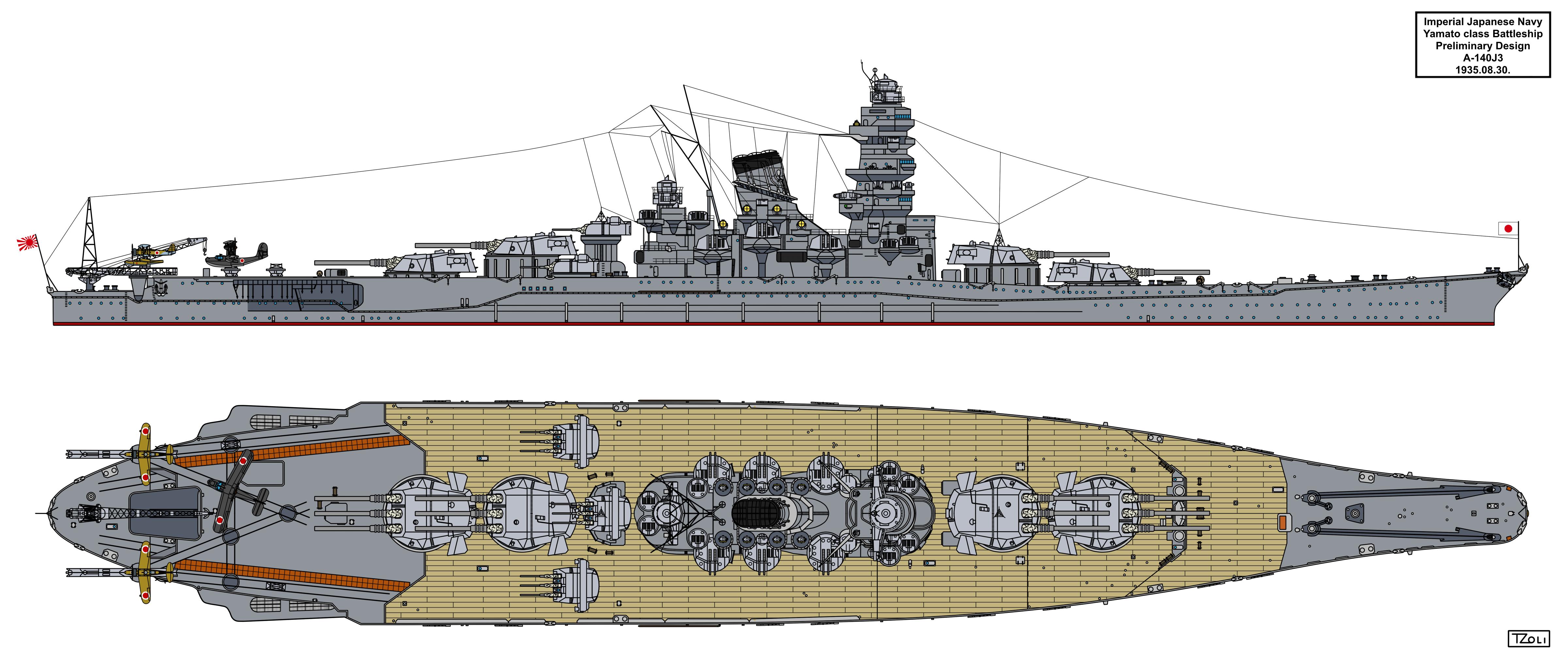 Yamato Preliminary Design A 140j3 By Tzoli On Deviantart