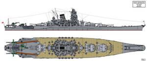 Yamato class Battleship Final Form 1945