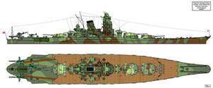 Yamato class Battleship Shinano subclass by Tzoli