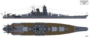 Yamato class Battleship No.797 subclass by Tzoli