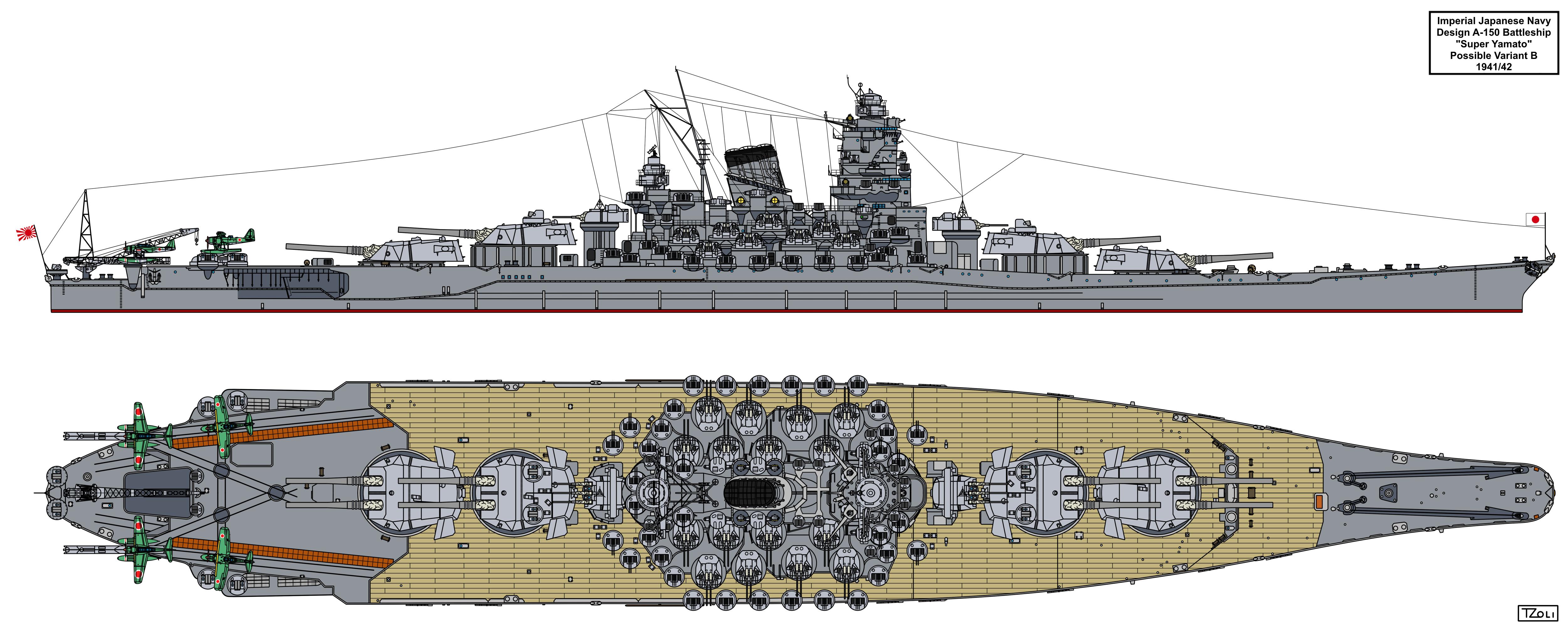 A-150 Super Yamato class possible variant B by Tzoli