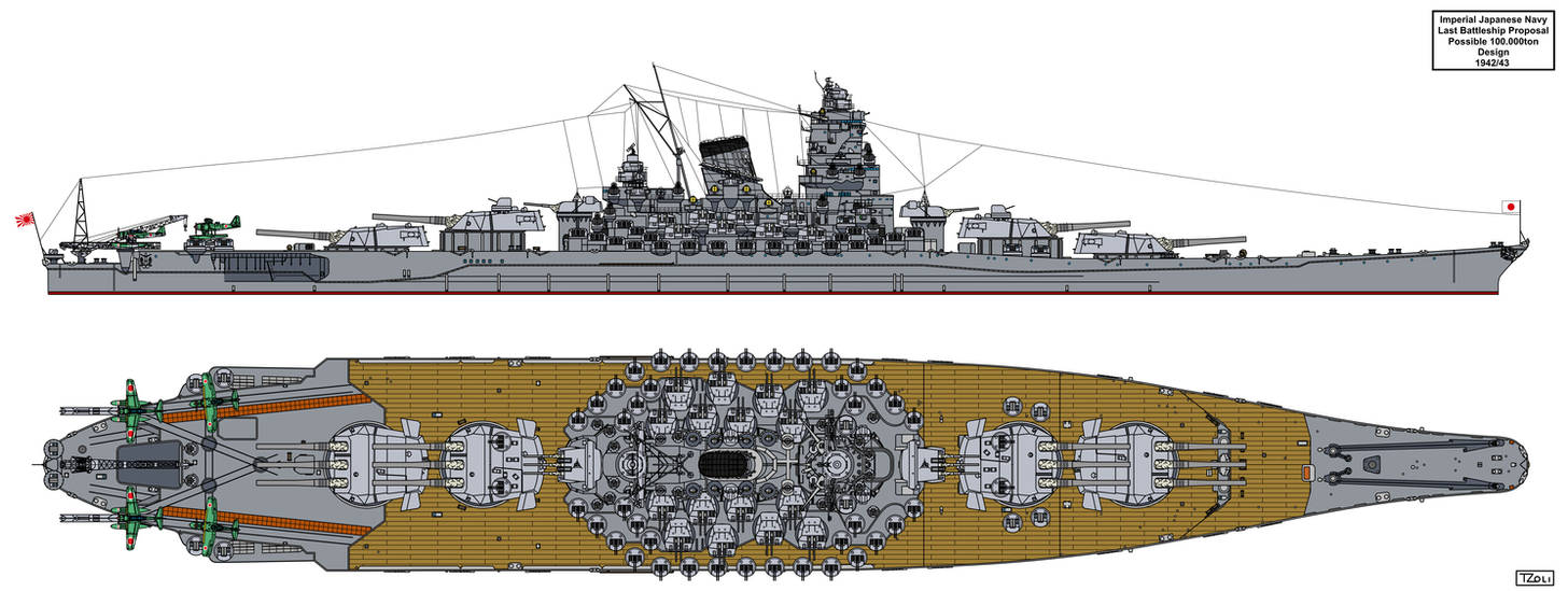 Last Japanese Battleship proposal by Tzoli
