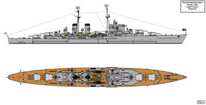 Royal Australian Navy 1944 Design Light Cruiser by Tzoli