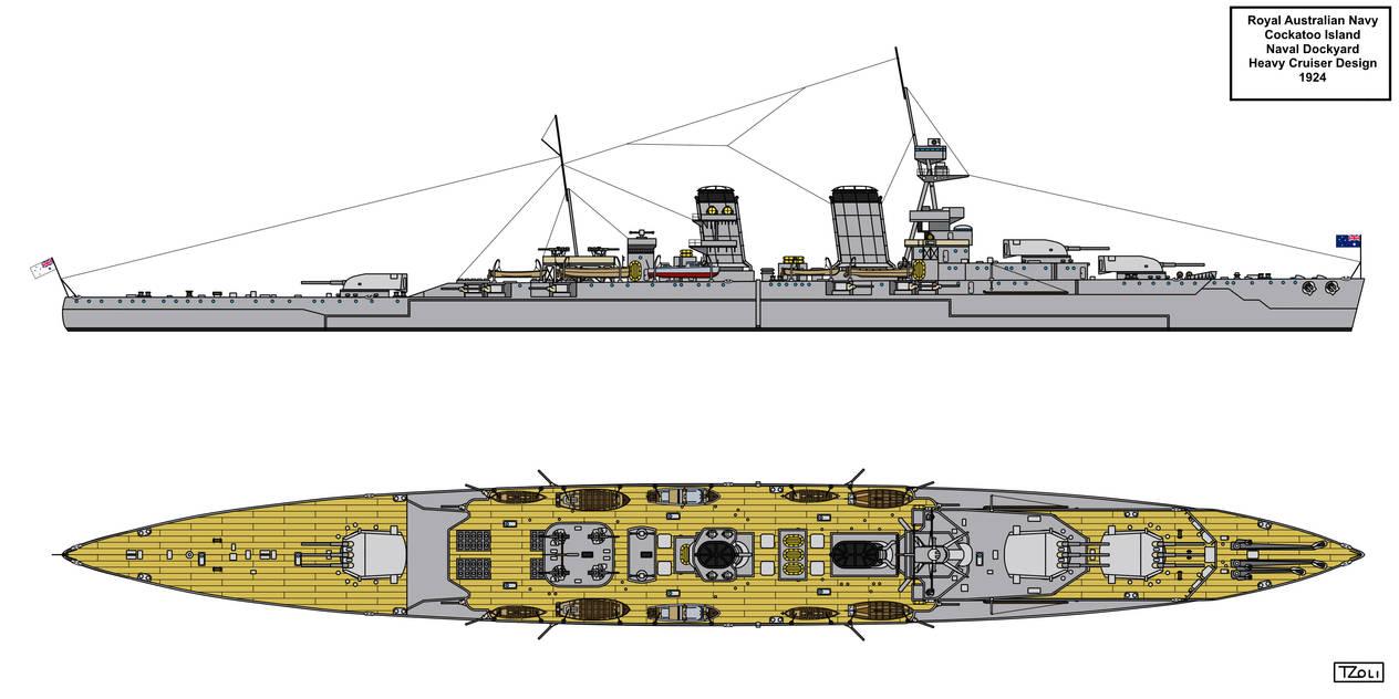 Cockatoo Heavy Cruiser Proposal by Tzoli