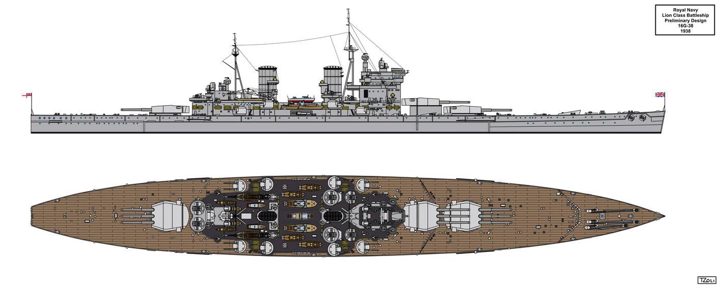 Lion Class Preliminary Design 16G-38 By Tzoli On DeviantArt