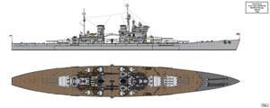 Modified Lion Class Battleship Design 16H-40