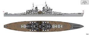 Lion Class Battleship Redesign 1944 Version 1