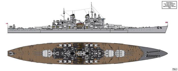 Lion Class Battleship Redesign 1944 Version 1 by Tzoli