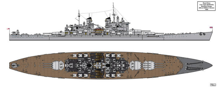 Lion Class Battleship Redesign 1944 Version 2 by Tzoli