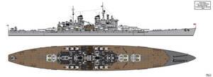 Lion Class Battleship Redesign 1944 Version 3