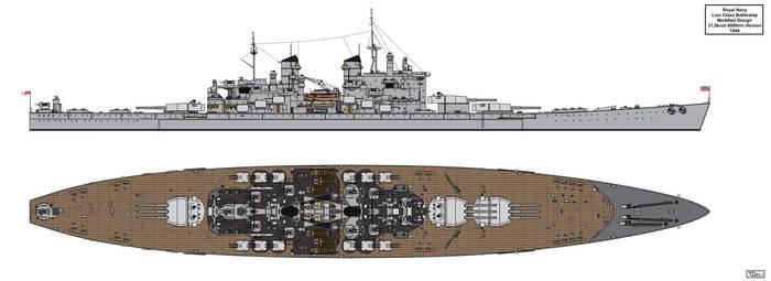 Lion Class Battleship Redesign 1944 Version 3 by Tzoli
