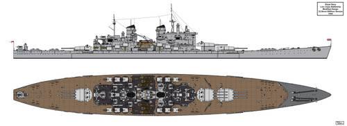 Lion Class Battleship Redesign 1944 Version 4 by Tzoli