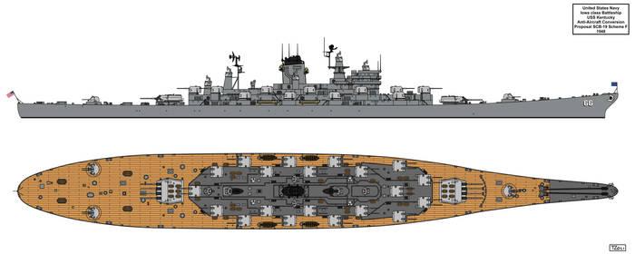 Anti-Aircraft Cruiser-Battleship USS Kentucky F