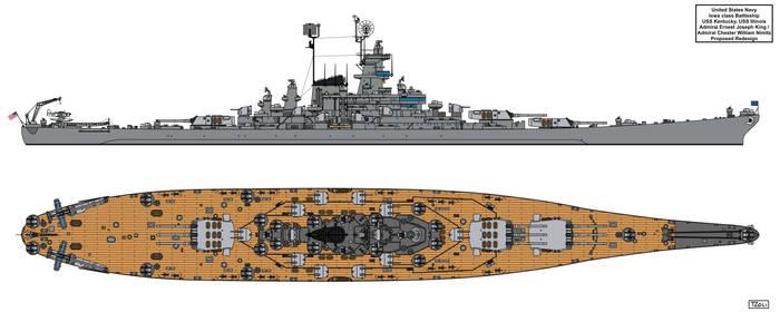 Iowa class King-Nimitz Redesign by Tzoli