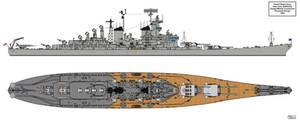 Iowa class Guided Missile Battleships 1955