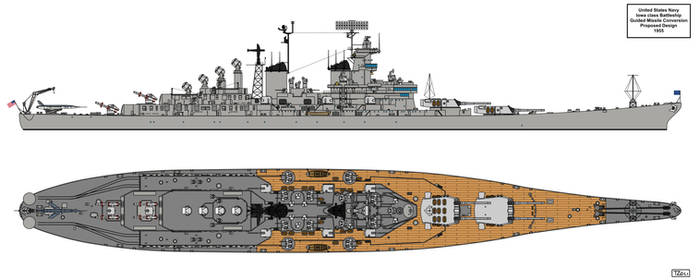 Iowa class Guided Missile Battleships 1955 by Tzoli