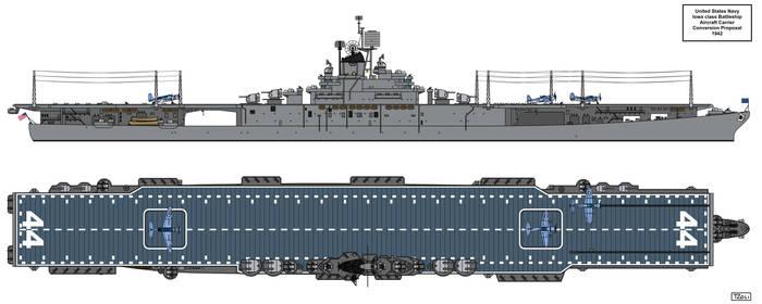 Iowa class Aircraft Carrier Design