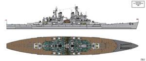 Lion Class Battleship Design 1945 A3