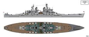 Lion Class Battleship Design 1945 B6