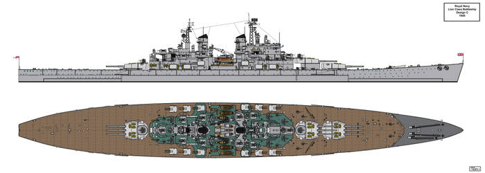 Lion Class Battleship Design 1945 C