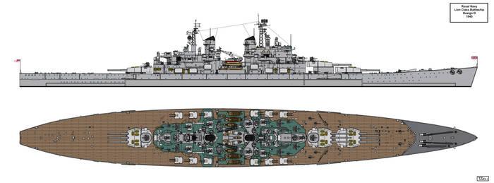 Lion Class Battleship Design 1945 D