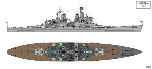 Lion Class Battleship Design 1945 X