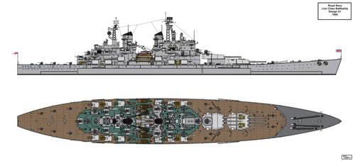 Lion Class Battleship Design 1945 X1