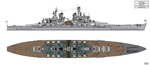 Lion Class Battleship Design 1945 X2