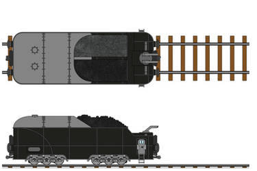 Transarctica Tender Wagon technical view