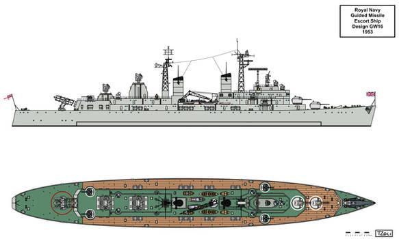 Royal Navy GW16 Convoy Escort Design