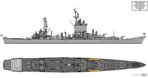USS Long Beach As Modernised