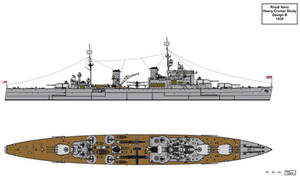 Royal Navy Design B Heavy Cruiser 1939