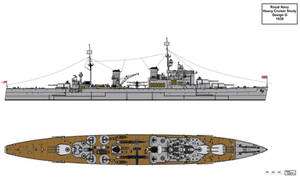 Royal Navy Design G Heavy Cruiser 1939
