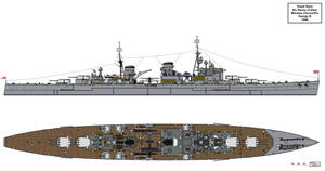 Royal Navy Churchill Type Heavy Cruiser Design B