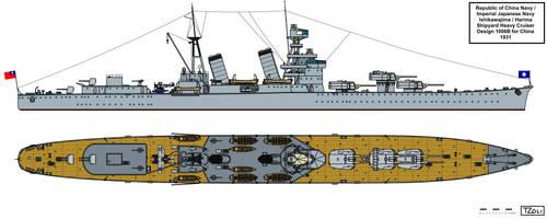 Harima Shipyard Heavy Cruiser Design 2 for China
