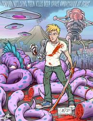 Anime Teen with Sword
