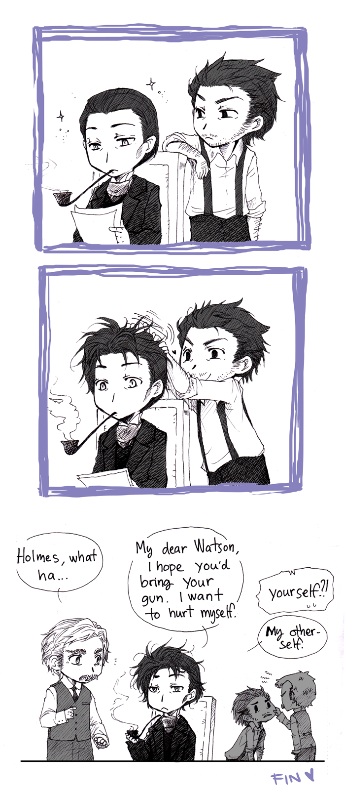 Holmes' bad hair day by Sadyna