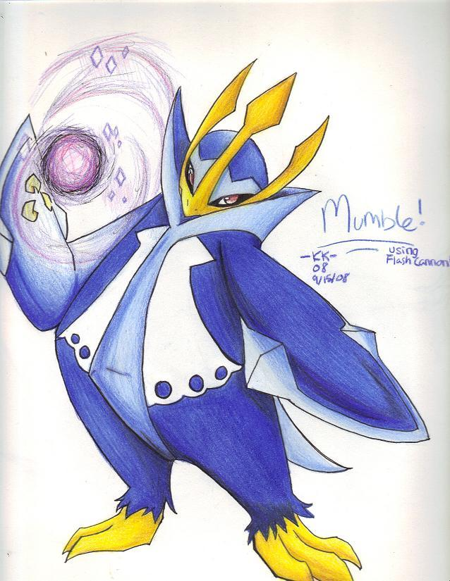 mumble the empoleon by phoelion on deviantart