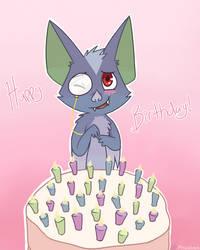 Birthday Bat by Phoelion