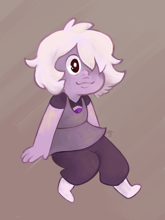 Titled WHAT AM I DOING.png Yeah babby Amethyst! She was so cute in last week's episode! ;; This is a very experimental thing, trying to figure out a new painting style… used an Ame dood...