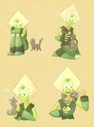 Peridot + Kitty by Phoelion