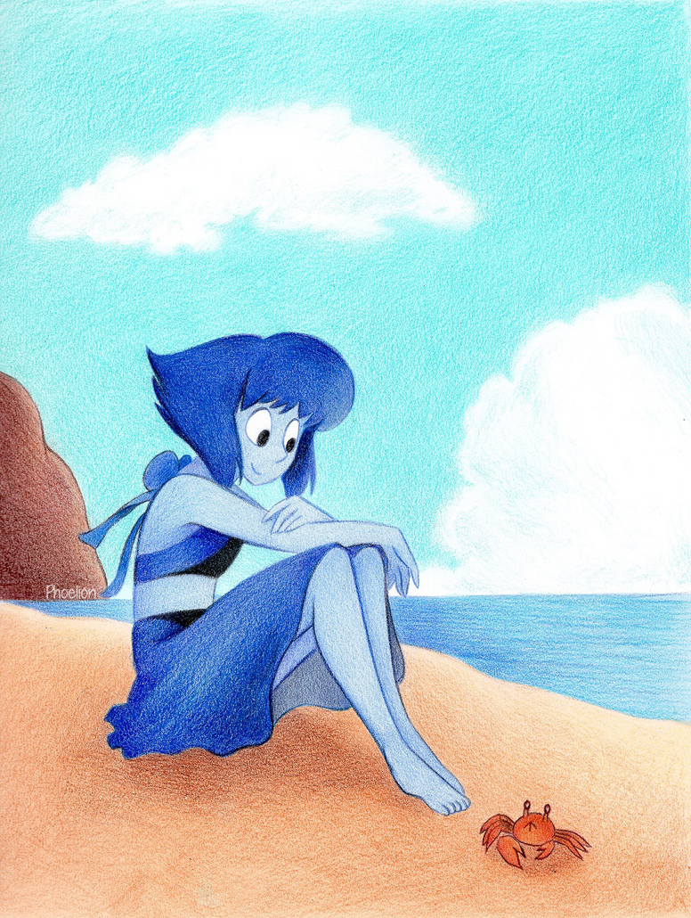 Woo! It's summer... and I miss the beach </3 Also, first colored picture scanned with my new scanner! It really likes the color blue and it looks really nice! Anywho, I just really needed to dra...