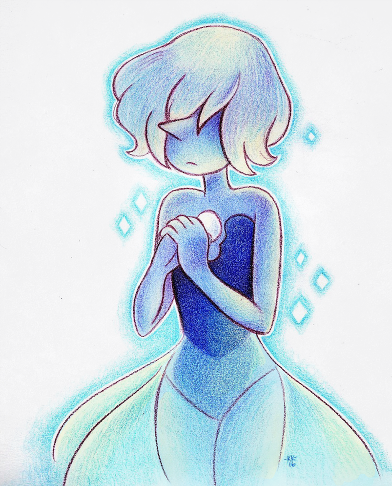 "She's really pretty ;; Ahhhh man last night's ep was so good oh gosh Kinda lazy coloring I sorry ""Blue Pearl"" (C) Steven Universe; Rebecca Sugar Art (C) Me"