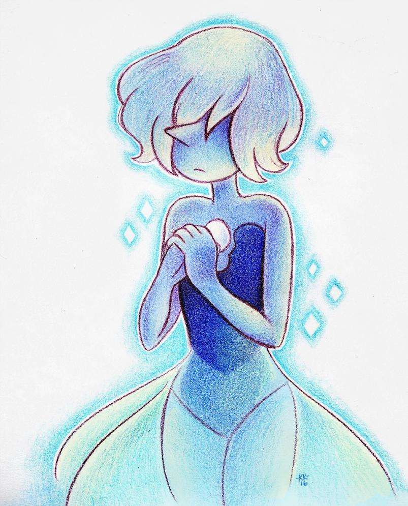 "She's really pretty ;; Ahhhh man last night's ep was so good oh gosh Kinda lazy coloring I sorry ""Blue Pearl"" (C) Steven Universe; Rebecca Sugar Art (C) Me"
