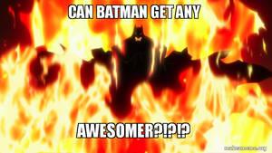 Batman walking through fire by Bendorah
