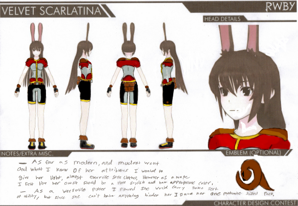 Rwby Character Design Contest : Rwby velvet design entry by zacyn on deviantart