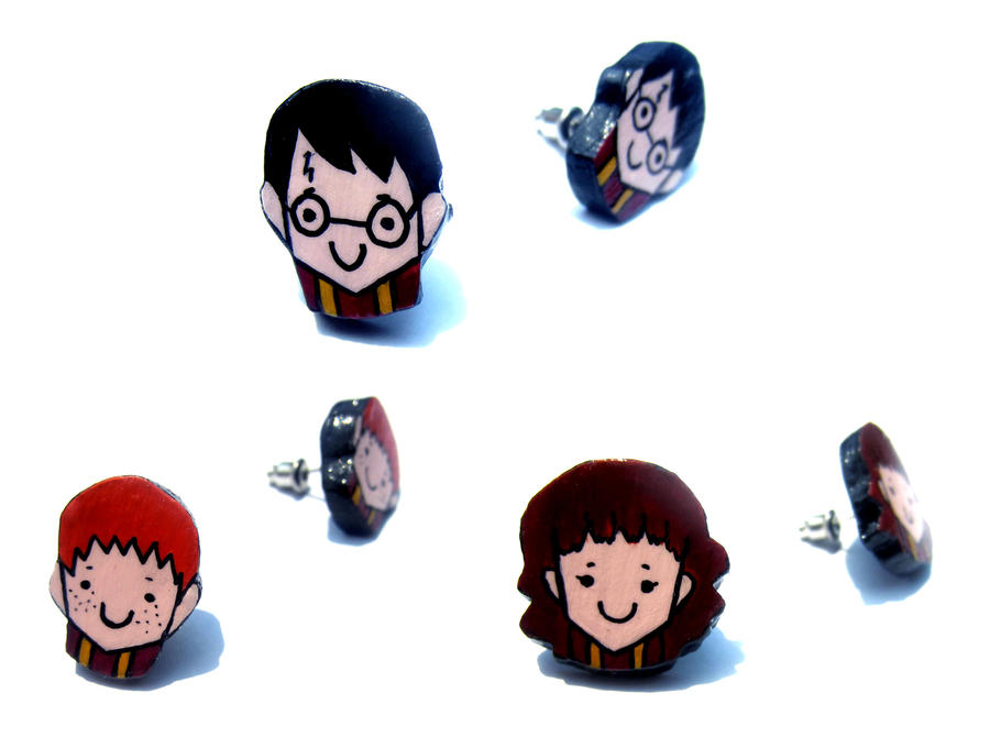 Harry Potter Earrings by surrealtoons