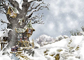 Tree House - Winter by BhattiGal