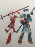 Art Trade with DragonOni  by Enji369